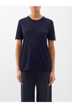 Joseph Cashair Cashmere T-shirt - Womens - Navy
