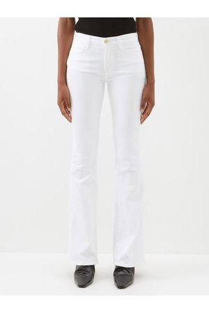 Frame Women Wide Leg Trousers - Le High Cotton-blend Flared-leg Jeans - Womens