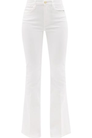 Women Wide Leg Trousers - Frame - Le High Cotton-blend Flared-leg Jeans - Womens