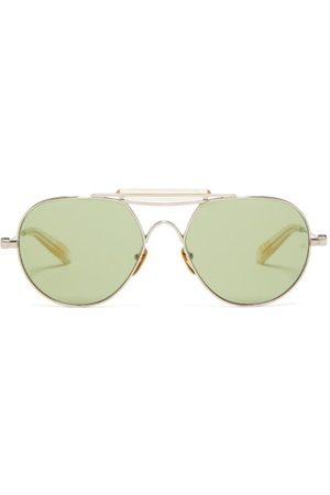 JACQUES MARIE MAGE Bastogne Aviator Titanium Sunglasses - Mens