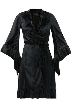Julie De Libran Robe De Chambre Velevet Wrap Dress - Womens