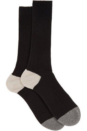 Pantherella Portobello Ribbed-knit Socks - Mens