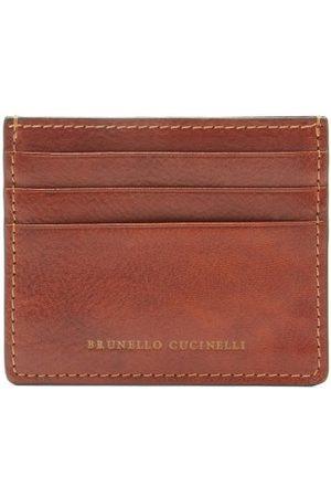 Brunello Cucinelli Stamped-logo Leather Cardholder - Mens