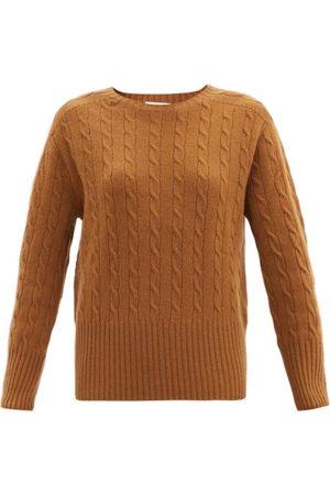 Erdem Carmine Cable-knit Cashmere Sweater - Womens - Camel