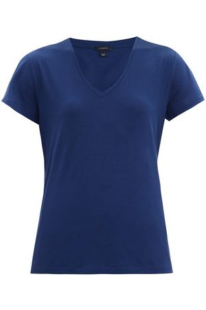 Joseph V-neck Cotton-jersey T-shirt - Womens - Navy