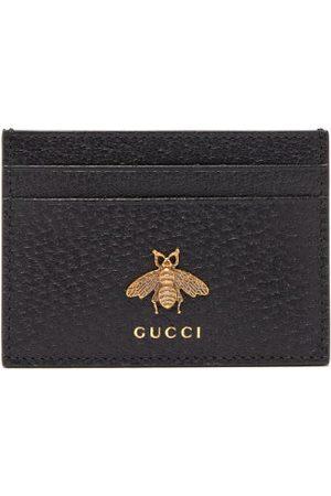 Gucci Men Purses & Wallets - Bee-embellished Leather Cardholder - Mens