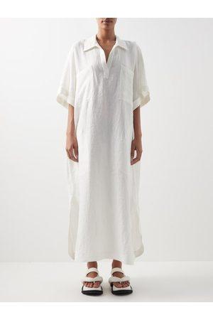 Raey Women Dresses - Patch-pocket Linen Smock Dress - Womens - Ivory