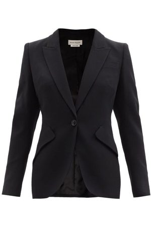 Women Trousers - Alexander Mcqueen - Single-breasted Crepe Jacket - Womens