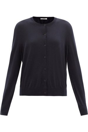 The Row Battersea Round-neck Cashmere Cardigan - Womens - Navy