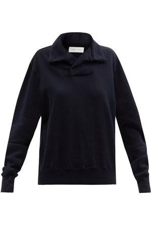 Les Tien Yacht Brushed-back Cotton Sweatshirt - Womens - Navy