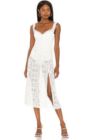 For Love & Lemons Nadine Midi Dress in . Size S, XS, M.
