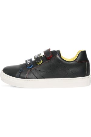 Marc Jacobs Logo Straps Leather Sneakers