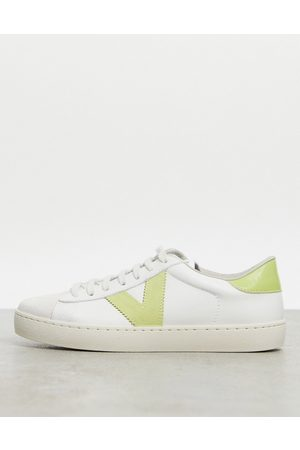 victoria Berlin leather trainers in and lime