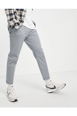 New Look Pleated chino trousers in grey