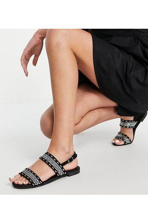 Miss KG Wide fit detroit flat sandals in