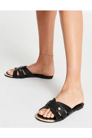 Miss KG Dallas knot detail flat sandals in