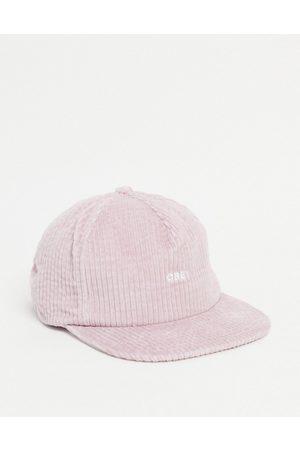 Obey Bold logo cord strapback cap in