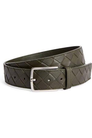 Bottega Veneta Leather Intrecciato Belt