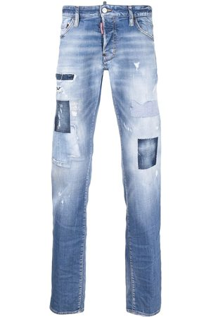 Dsquared2 Men Bootcut - Distressed stonewashed bootcut jeans