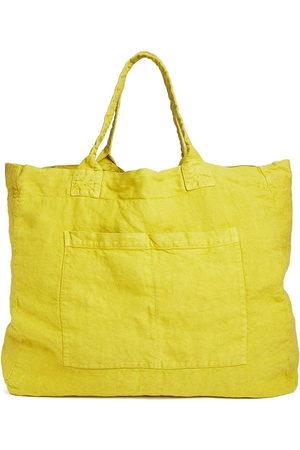 ONCE MILANO Linen weekend bag