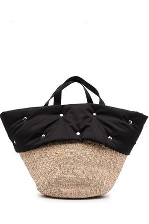Comme des Garçons Women Handbags - Panelled raffia tote