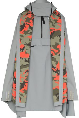 Y / PROJECT Men Ponchos & Capes - X Canada Goose Field camouflage panel cape