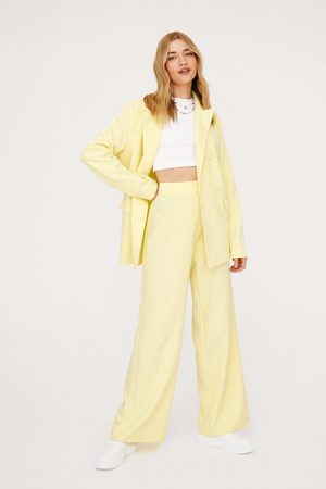 NASTY GAL Womens Wide Leg Suit Trousers