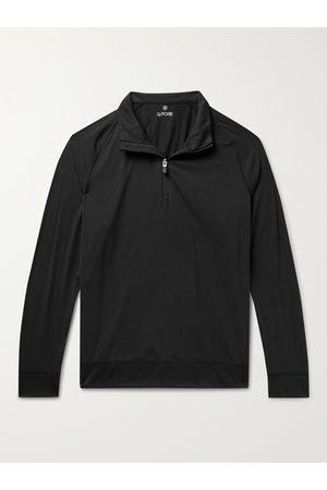 G/FORE Luxe Staple Mid Mélange Tech-Jersey Half-Zip Golf Top