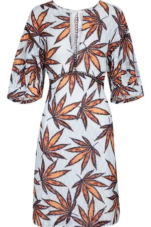 Dorothee Schumacher Fantasy Leaves printed cotton minidress