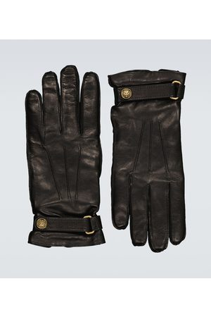 Gucci Cashmere-lined leather gloves