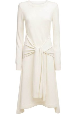 J.W.Anderson Wool Knit Midi Dress W/ Waist Tie