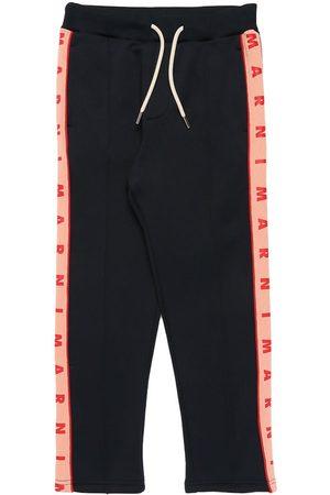 Marni Cotton Sweatpants W/ Logo Bands