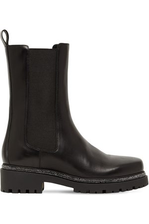 RENÉ CAOVILLA 25mm Leather Chelsea Boots