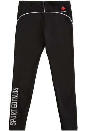 Dsquared2 Printed Stretch Cotton Jersey Leggings