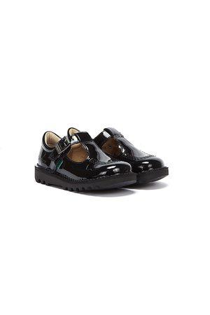 Kickers Women Sports Shoes - Infant Kick T Bar Patent Leather Shoes
