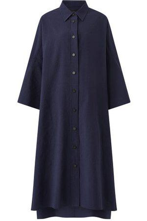 Joseph Baker Cotton-blend Twill Shirt Dress - Womens - Navy