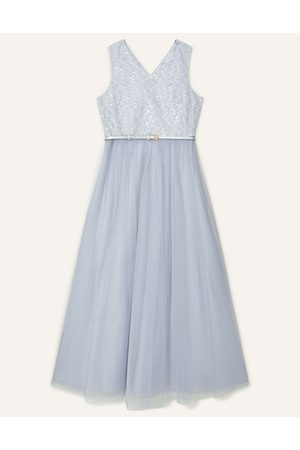 Monsoon Sequin Lace Bodice Prom Dress , Embellished, in Size: 9 Years