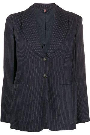 Romeo Gigli Pre-Owned Women Blazers - 1990s single-breasted pinstripe blazer