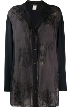Gianfranco Ferré Pre-Owned Women Tops - 1990s stained effect sheer shirt