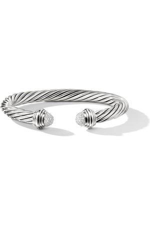 David Yurman Sterling Cable diamond cuff