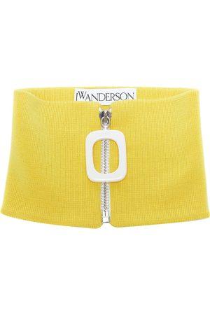 J.W.Anderson Ribbed-knit merino wool neckband