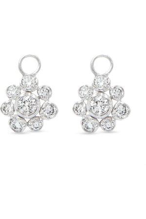 ANNOUSHKA Women Earrings - 18kt white gold diamond Marguerite large drop earrings