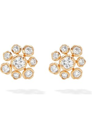 ANNOUSHKA Women Earrings - 18kt gold diamond Marguerite stud earrings