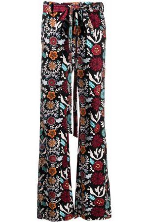 La DoubleJ Women Wide Leg Trousers - Tie-waist flared trousers