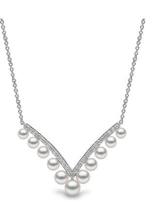 Yoko London Women Necklaces - 18kt white gold Sleek Akoya pearl and diamond necklace