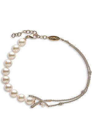 Yoko London Women Bracelets - 18kt yellow Sleek Akoya pearl diamond bracelet