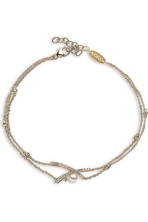 Yoko London Women Bracelets - 18kt yellow Sleek Akoya pearl and diamond bracelet