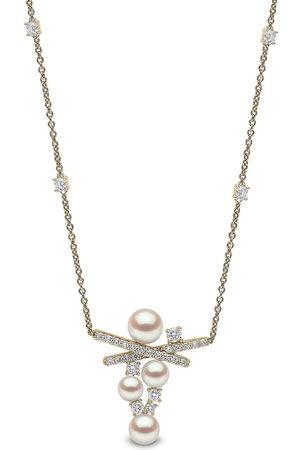 Yoko London Women Necklaces - 18kt yellow Sleek Akoya pearl and diamond necklace