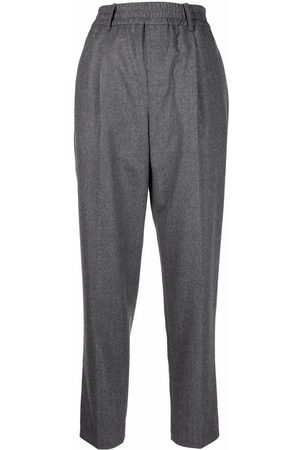 Brunello Cucinelli Women Formal Trousers - Straight leg wool trousers