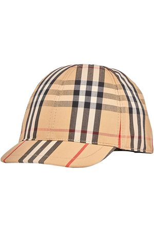 Burberry Girls Hats - Vintage check and Icon stripe baseball cap